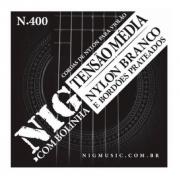 Encordoamento Para Violão Nylon Branco Tensão Media Nig N-400