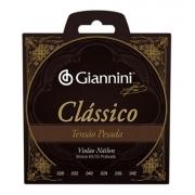 Encordoamento Violão Nylon Giannini Clássico Tensão Pesada