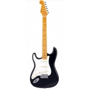 Guitarra Stratocaster Sx Sst 57 Preta Lh Canhoto