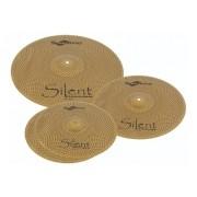 Kit De Pratos Silenciosos Spanking Silent 14, 14, 16, 20