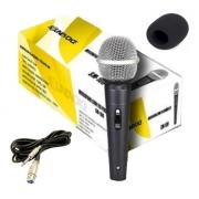 Microfone de Mão Soundvoice Sm100 Com Cabo e Espuma