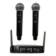 Microfone Duplo Mxt Uhf-526 Sem Fio Com 100 Canais