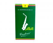 Palheta Vandoren Java Saxophone Alto Nº 3 Caixa com 10 palhetas