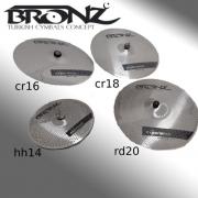 Set De Pratos Mute Bronz M by Odery Hh14, Cr16,18 E Rd20