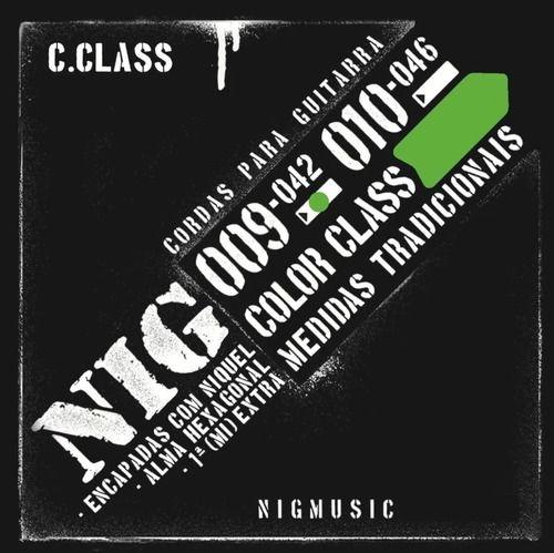 Encordoamento 09 042 Nig Color Class Verde N1634 de Guitarra