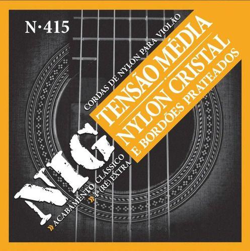 Cordas De Nylon Média Tensão Para Violão Clássico Nig N415