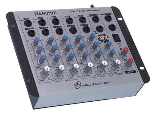 Mesa De Som Mixer Nanomix Ll Audio Na602r 6 Canais