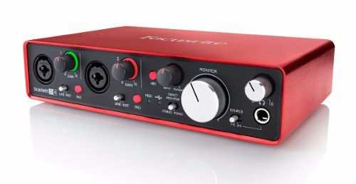 Interface De Áudio Focusrite Scarlett 2i4 2nd Gen