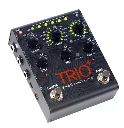 Pedal De Efeito Digitech Trio + Plus Para Guitarra Pro