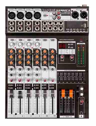 Mesa De Som Soundcraft Sx802fx 8 Canais Usb