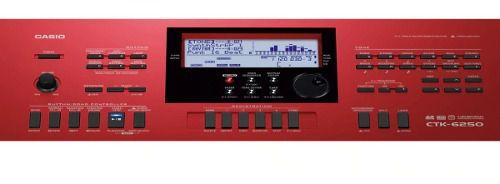Teclado Digital Casio Ctk6250 61 Teclas Usb com Fonte