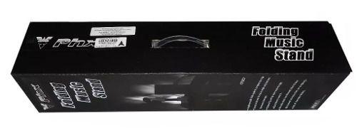 Estante Partitura Tubular Preta Dobrável Com Bag Phx Sd201