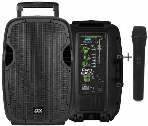 """Caixa de Som Ativa Amplificada Pro Bass Underground 15"""" com Bateria"""