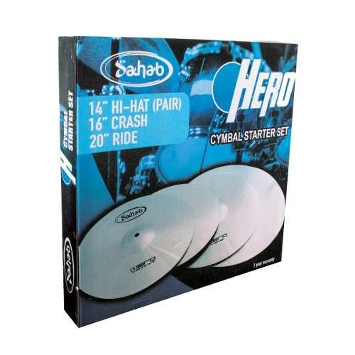 Set de Pratos de Bateria Sahab Hero 14 16 20 com Bag