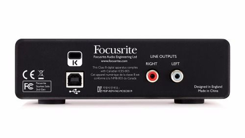Interface de Áudio Focusrite Scarlett Solo - 2nd Generation