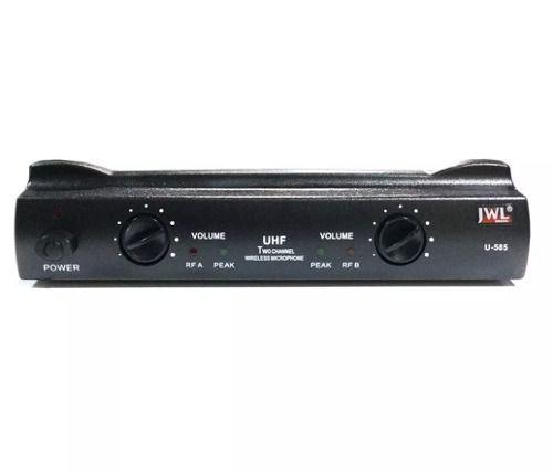 Microfone Duplo Sem Fio Uhf Jwl U-585h Uso Profissional 01 Headset E 01 Bastão