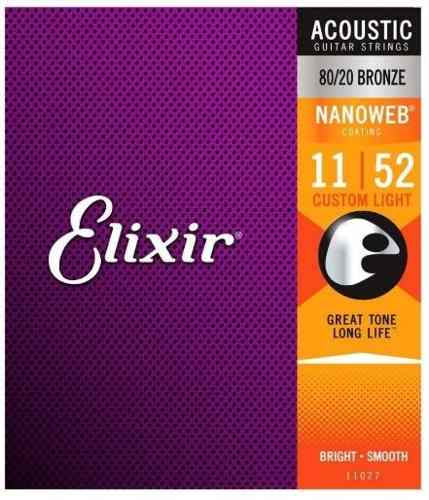 Encordoamento Violão Elixir 011|052 Nanoweb 11027