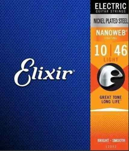 Encordoamento Elixir Guitar Nanoweb 10|46 Light 12052