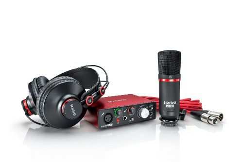 Kit Interface Focusrite Scarlett Studio Solo