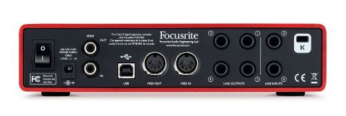 Interface De Audio Usb Focusrite Scarlett 6i6 Profissional