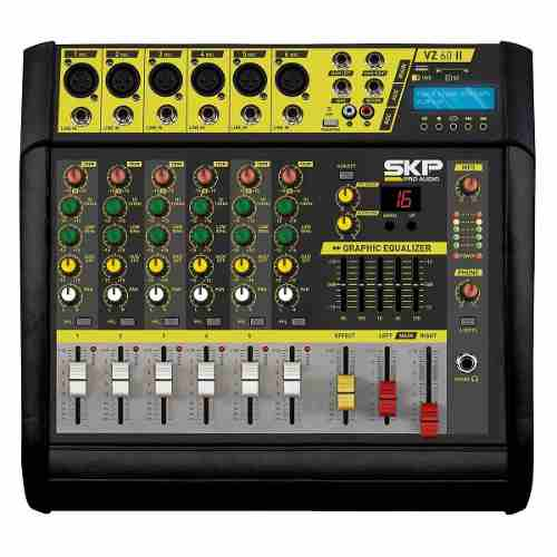 Mesa De Som Amplificada Vz60 Skp Bivolt 400w