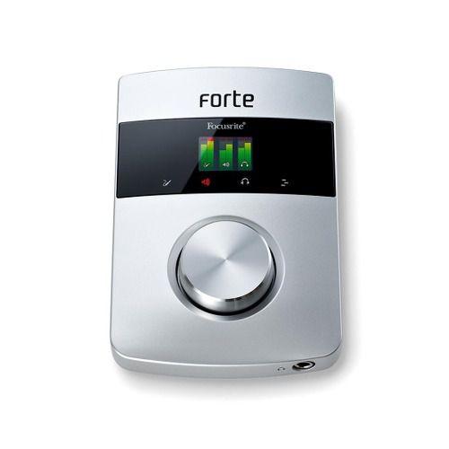 Interface Gravação De Áudio Profissional Focusrite Forte Usb