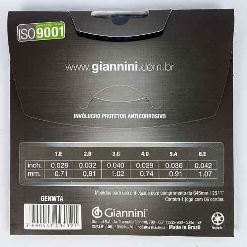 Encordoamento Giannini Titanium Violão Nylon Tensão Pesada