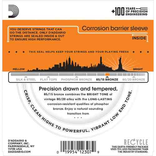 Encordoamento Violão Aço D'Addario EZ900 0,10 EZ 900-B