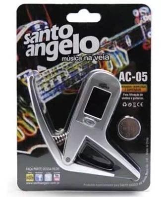 Capotraste com Afinador Santo Angelo Ac-05  Guitarra e Violão