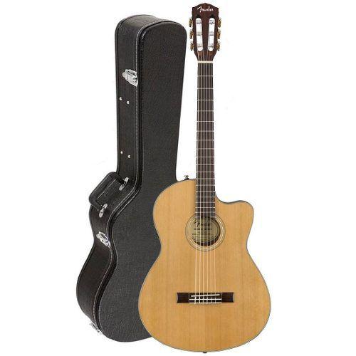 Violao Fender Thinline Nylon Case Cn-140 Sce Tampo Maciço