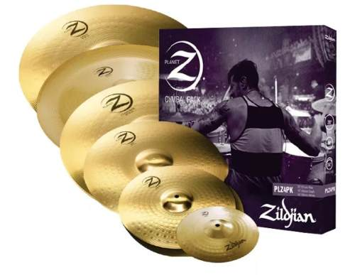 Kit de Pratos Zildjian Planet Z Super Pack - PLZSP - 14HH+16C+18CR+20R+10S+18CH