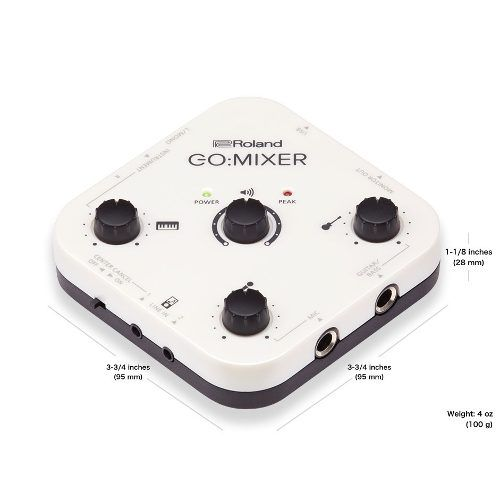 Mixer de Áudio Para Smartphone e Tablet Go Mixer