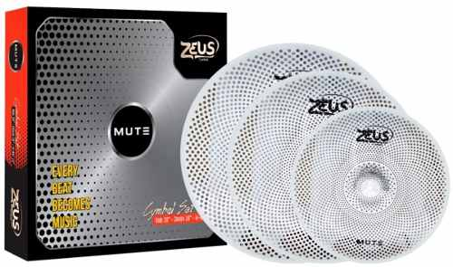 Kit De Pratos Zeus Mudo Set Mute 14, 16 E 20