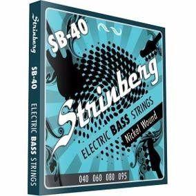 Encordoamento Strinberg Sb40 P/ Contra Baixo 4 Cordas 040