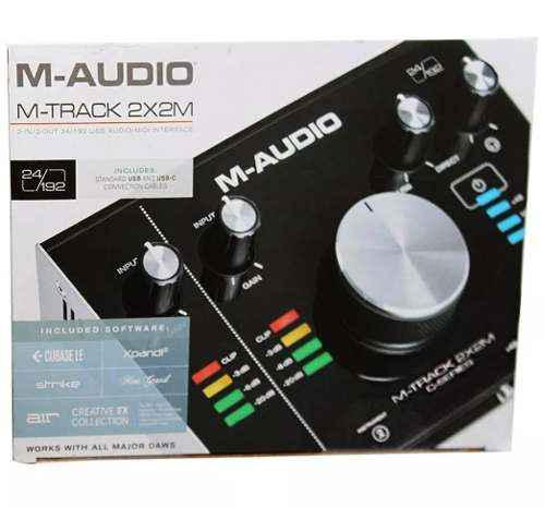 Interface De Áudio M-audio M-track 2x2M para Gravação Usb