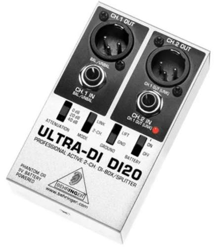 Direct Box Ativo Ultra Di-20 Behringer