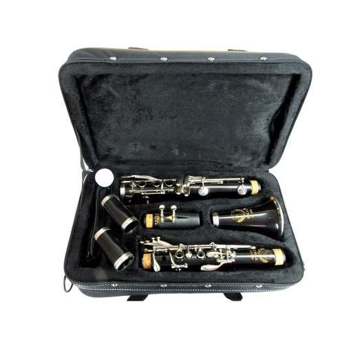 Clarineta Eagle Cl-04n Em Sib 17 Chaves Niqueladas