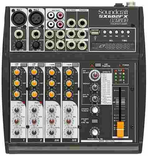 Mesa De Som Soundcraft Sx 602 Fx Usb 6 Canais