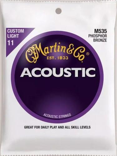 Encordoamento Violão Martin Phosphor Bronze Custom Light M535  0.11