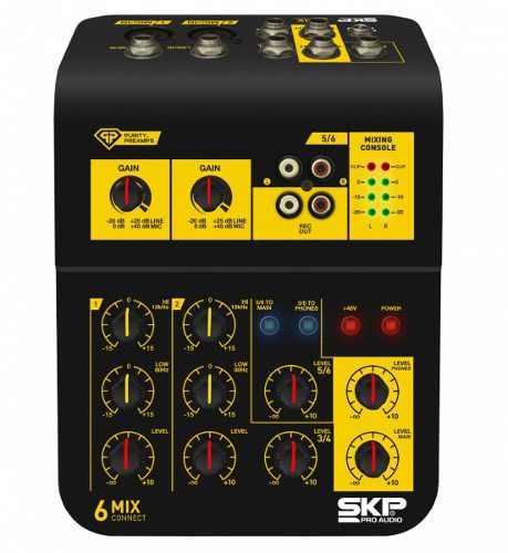 Mixer Mesa De Som Skp Connect 6 4 Canais