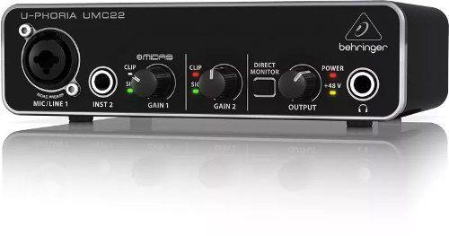 Interface De Audio Behringer Umc22 24-bit/48 Khz