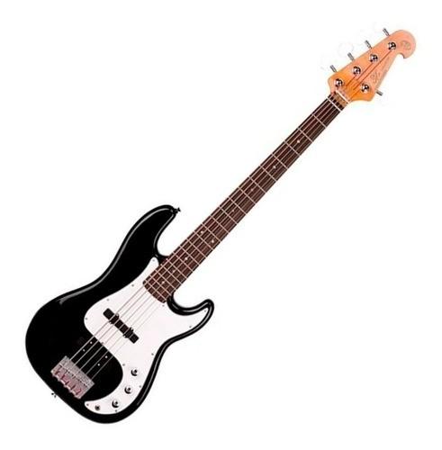 Baixo Sx 5 Cordas Precision Bass Spb62+5 Bk Preto Com Bag