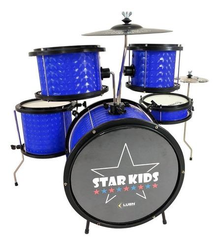 Bateria Infantil Profissional Luen Star Kids Azul