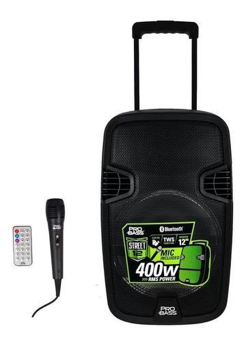Caixa De Som Probass Street 12 com Microfone, Usb, Bluetooth