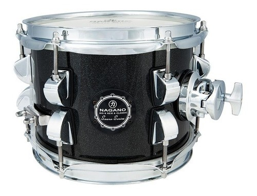 Caixa Nagano New Beat de Bateria 8 X 6 Tom Holder Ebony Sparkle