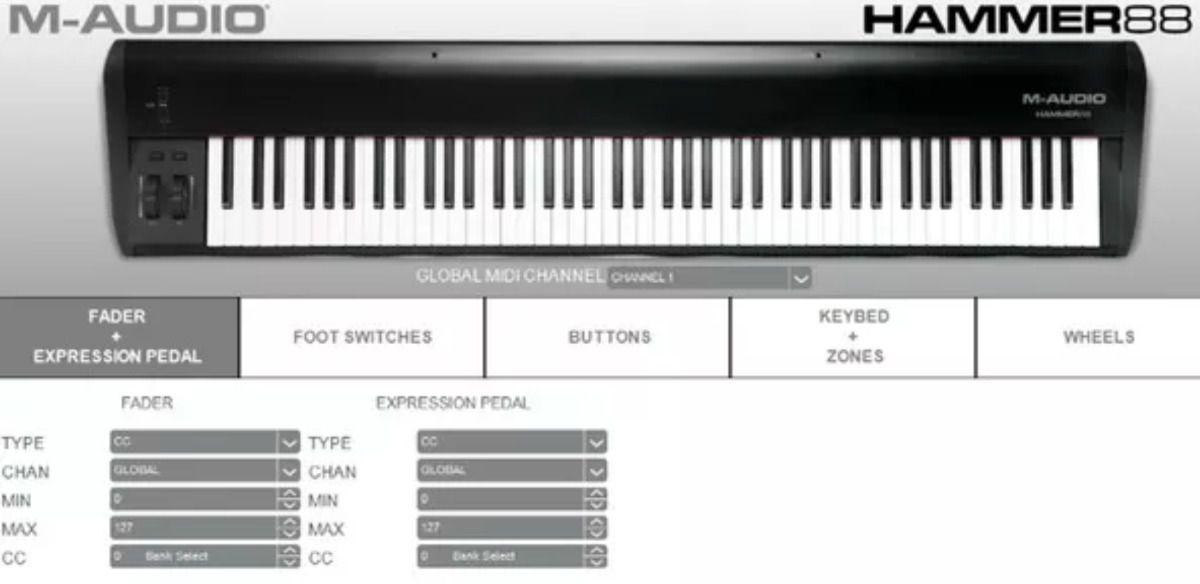 Controlador M-Audio Hammer 88 | MIDI | USB |88 Teclas