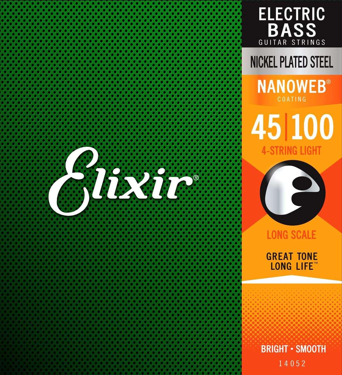 Encordoamento Baixo Elixir 4 Cordas 045-100 Nanoweb Light 14052