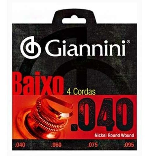 Encordoamento Contrabaixo 4 Cordas Giannini .040 - Geebrl