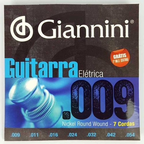 Encordoamento Giannini 09 Para Guitarra 7 Cordas - GEEGST.709