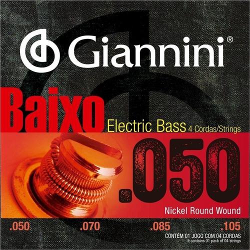 Encordoamento Giannini Contra Baixo 4c Geebrsx 050
